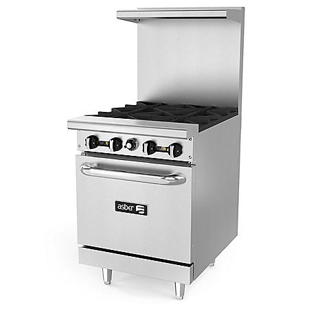 Asber Commercial Restaurant Range with Oven (Select a Size)