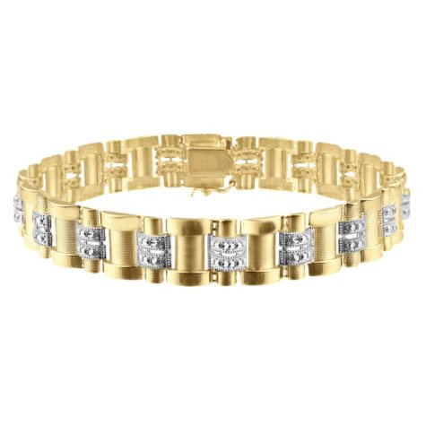 14K Solid Gold Men's Bracelet