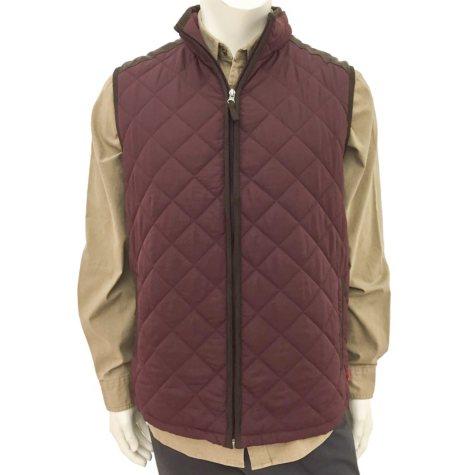 Coleman Men's Quilted Vest With Faux Suede Trim