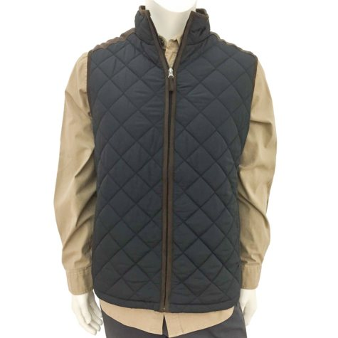 Coleman Men's Quilted Vest With Faux Suede Trim