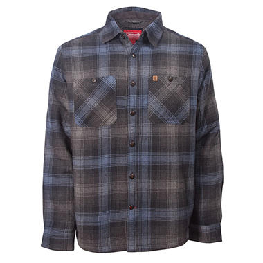 Coleman Men's Sherpa Lined Flannel Shirt Jacket - Sam's Club