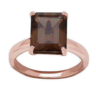 Smokey Quartz Ring in 14K Rose Gold