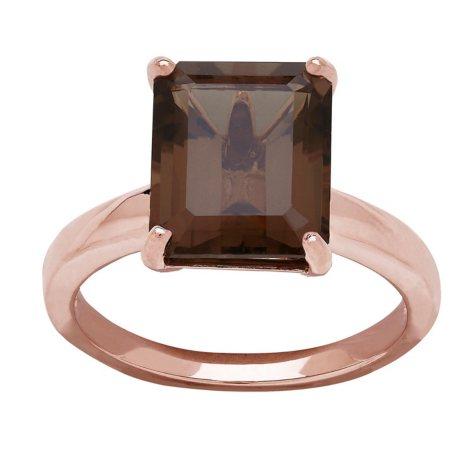 Smokey Quartz Ring in 14K Rose Gold