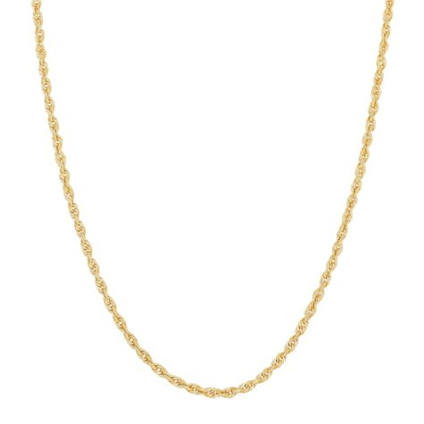 14K Yellow Gold Solid Rope Chain, 20""
