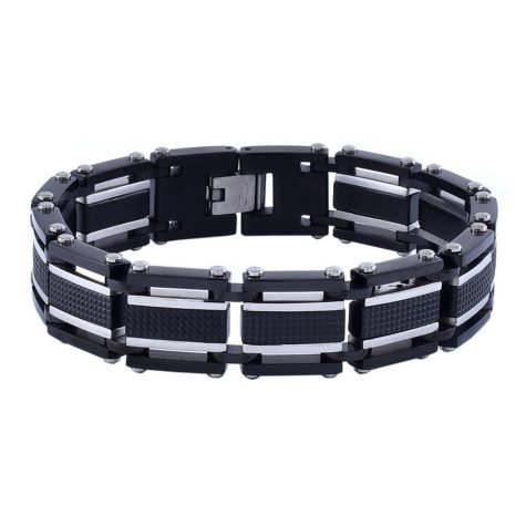 Men's Two-Tone Stainless Steel Bracelet
