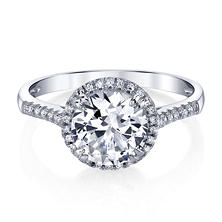 33cdd7d57 Top Rated Created White Sapphire Ring with .11 ct. t.w. Diamond Accent in  14K Gold