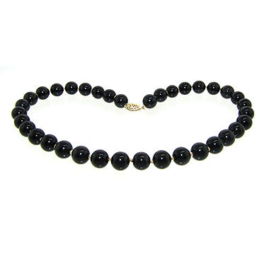 10MM Onyx and Gold Bead 16