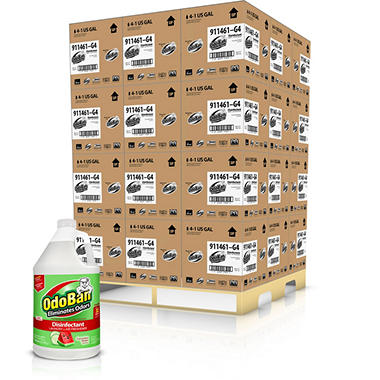 OdoBan Odor Eliminator and Disinfectant Concentrate, Cucumber Melon Pallet (144 bottles)