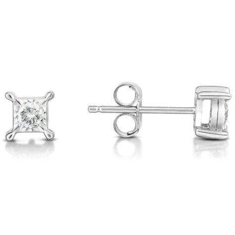 .13 ct. t.w. Diamond Earring in 14K White Gold