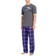 NFL Men's Flannel Pant and Short Sleeve Top Set