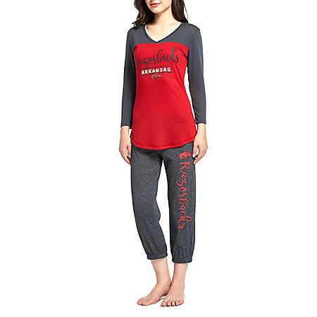 NCAA Ladies Crop Pant and 3/4 Sleeve Top Set