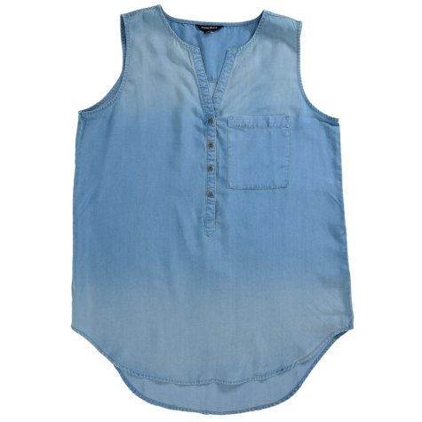 Terre Bleue Soft Denim Sleeveless Top