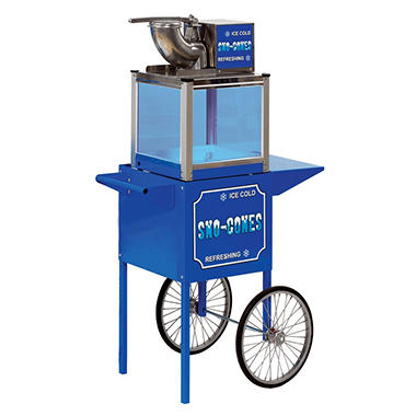 Paragon Blue Frost Snow Cone Machine with Free Cart