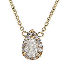 Premier Diamond Collection 0.31 CT. T.W. Pear Diamond Halo Pendant in 14K Yellow Gold - IGI (G,VS1)