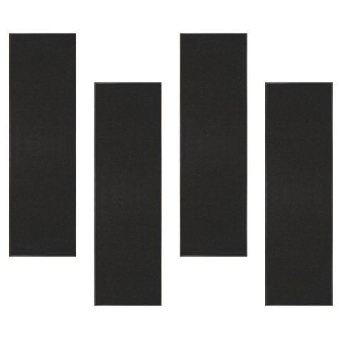 Chevron Rib Indoor Entrance Mat 3+1 Bundle, Charcoal (3' x 10')