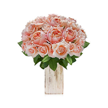 Spray Garden and Garden Rose Bouquet, 10 Stems (choose color)