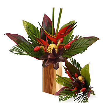 variant - Tropical Bouquet, Adventure with Heliconia (2 bouquets, vase not included)