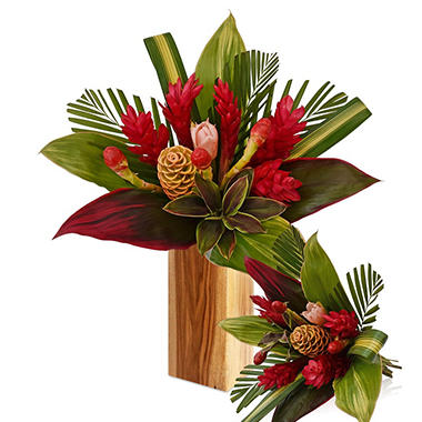 Tropical Bouquet, Fire with Ginger (2 bouquets, vase not included)