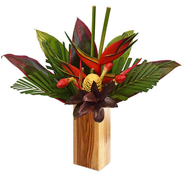 Tropical Adventure Bouquet With Heliconia (vase not included, 1 or 2 pack)