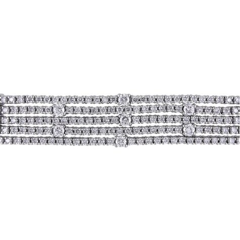 Allura 7.9 CT. Diamond Multi-Row Tennis Bracelet in 18K White Gold