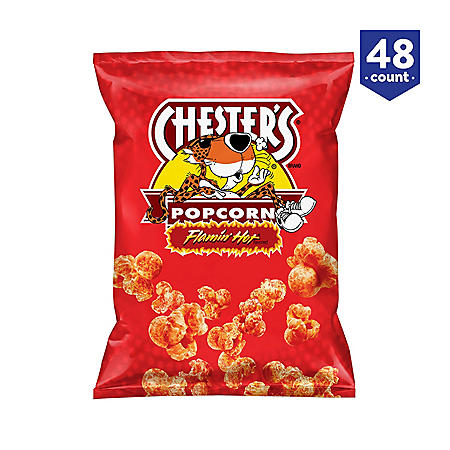 Chester's Flamin' Hot Flavored Popcorn (0.875 oz., 48 ct.)