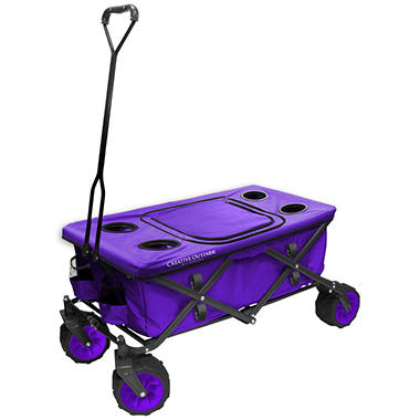 All-Terrain Folding Wagon with Table (Various Colors)