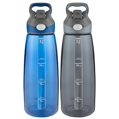 Addison Autospout 32 oz. Water Bottles (2 pack, Assorted Colors)