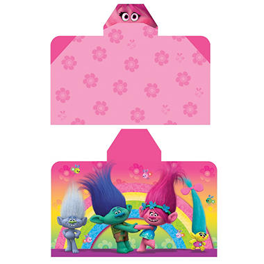 DreamWorks Trolls 'Poppy's Pals' Reversible Hooded Towel Wrap, 28