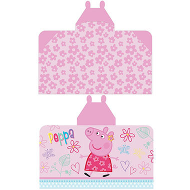 Peppa Pig 'Fun to Explore' Reversible Hooded Towel Wrap, 28