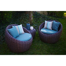 Corona 3-Piece Seating Set, Blue