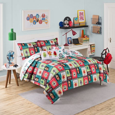 Waverly Kids Robotic Reversible Bedding Collection Bundle