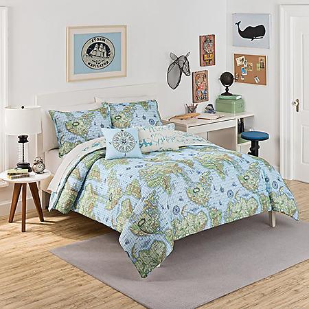 Waverly Kids Buon Viaggio Reversible Bedding Collection Bundle