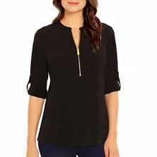 Designer Ladies' Zip-Front Top