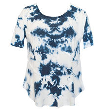 Green Tea Hi-Low Seamed Tie-Dye Tee