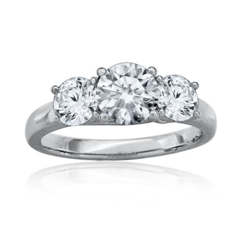 1.45 ct. t.w. Diamond Three Stone Engagement Ring in Platinum