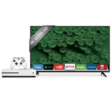 "Vizio 50"" Class 4K UHD LED Smart TV and Xbox One S 500GB Minecraft Console Bundle"