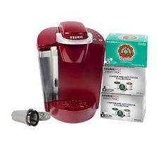 Keurig K50C Coffee Maker with 24 Pods and Reuseable Coffee Filter (Assorted Colors)