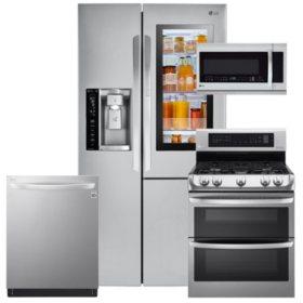 LG LSXS26396S, LDG4313ST, LMHM2237ST, LDT5665ST Stainless Steel Suite (GAS)