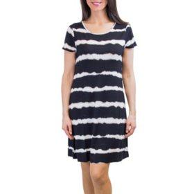 Flip Flop Scoop Neck A-Line Summer Dress