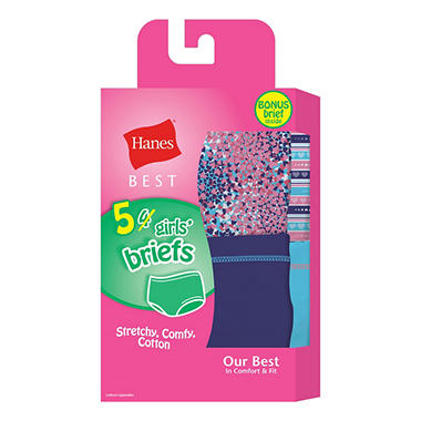 Hanes Best - 5 pack Girl's Brief Underwear