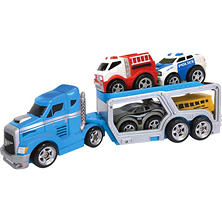 Soft & Squeezable Car Transporter, Blue
