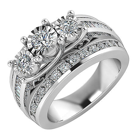 1.95 CT. T.W. Diamond Engagement Ring in 14K White Gold