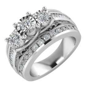 1.95 CT. T.W. Diamond Bridal Ring in 14K White Gold