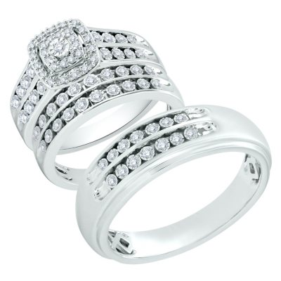 Bridal Sets Diamond Engagement Wedding Ring Sets Sams Club