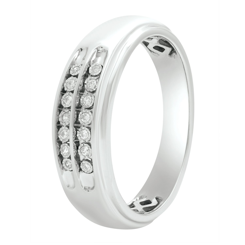 0 46 ct tw cushion shape frame design diamond trio wedding ring