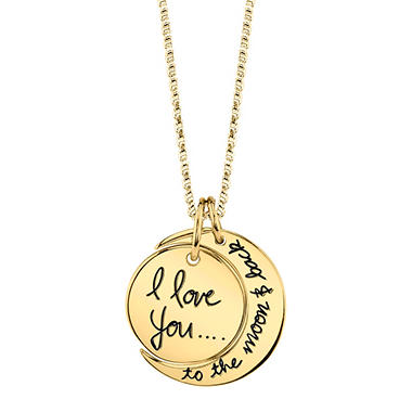14k gold i love you to the moon and back pendant necklace sams club 14k gold mozeypictures Choice Image