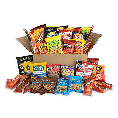 Ultimate Snack Care Package, Variety Assortment of Chips, Cookies and More (40-count)