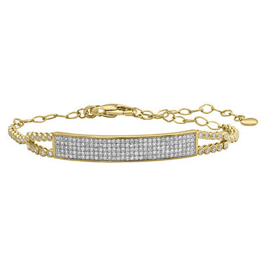S Collection 1.25 CT. T.W. Pavé Bar Bracelet in 14K Yellow Gold