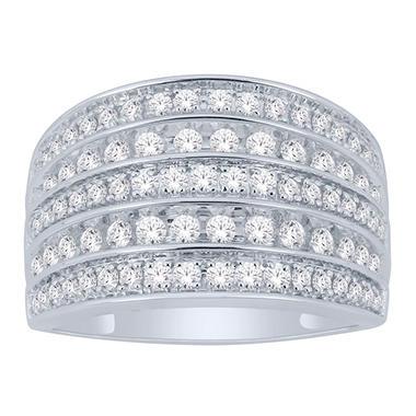1 ct t w multi row diamond ring in 14k gold i i1. Black Bedroom Furniture Sets. Home Design Ideas