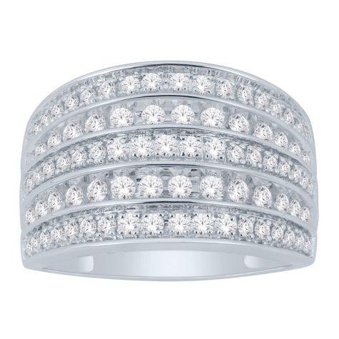 1 CT. T.W. Multi-Row Diamond Ring in 14K Gold (I, I1)